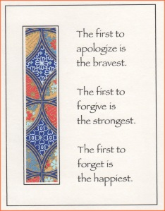 Apologize forgive forget