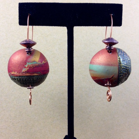 Copper-sunset-disc-earrings