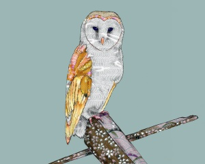 Pamela Kirton Barn Owl Digital Pieced Patchwork