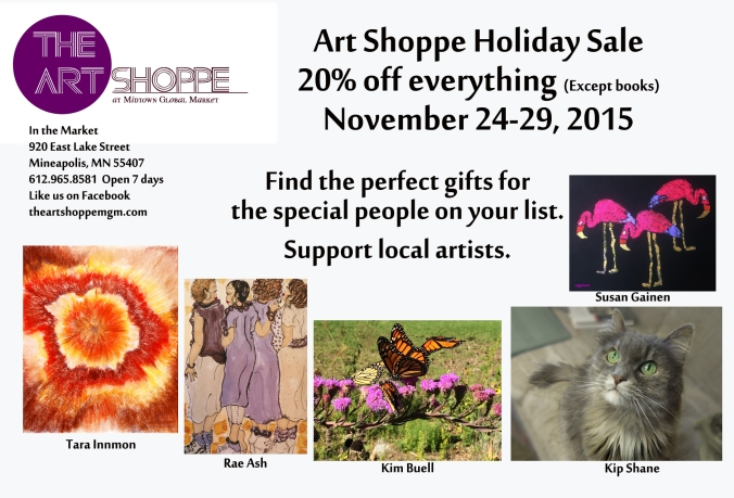 art shoppe holiday postcard 2015