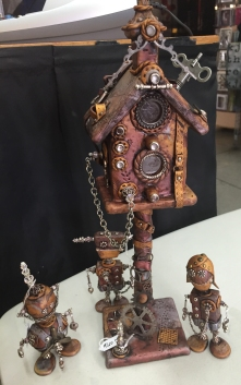 Marilyn Morrison Steampunk Birdhouse and Robots