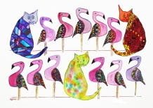 3 Cats & 11 Flamingos: An acapella group, Susan Gaine