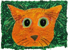 Ginger Cat from the Clowder of Cats, Susan Gainen