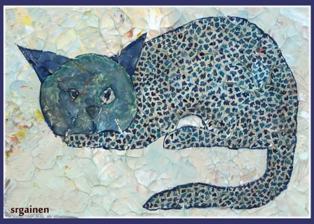 Susan Gainen: Blue Cave Cat: Lost Cave Paintings of Saint Paul