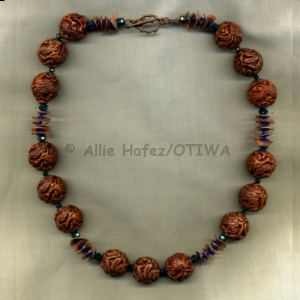 Allie Hafez Resin, crystals, sequins, seed beads, copper