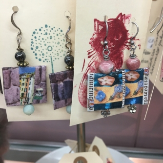 Kathleen Crook Collage Earrings